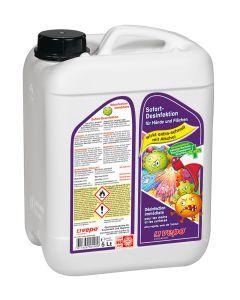 vepo Sofort-Desinfektion für Hände und Flächen Kanister 5 L  mit 70% Alkohol und Glycerin